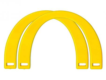 Taschengriffe paarweise , 17x12cm-gelb