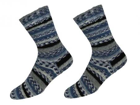"""KKK Sockenwolle """"Sensitive Socks"""" für Wollallergiker - Blau-grau-schwarz"""