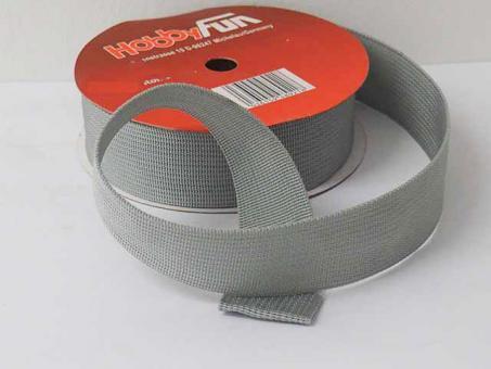 Gurtband 25mm (Polyester) - Grau