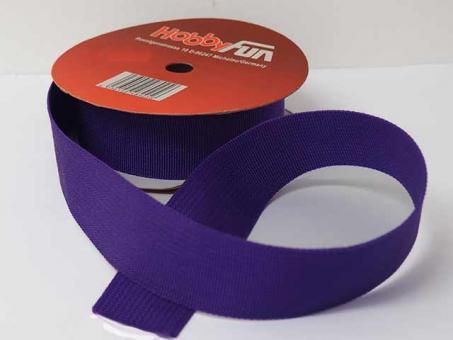 Gurtband 25 mm, pro meter, lila