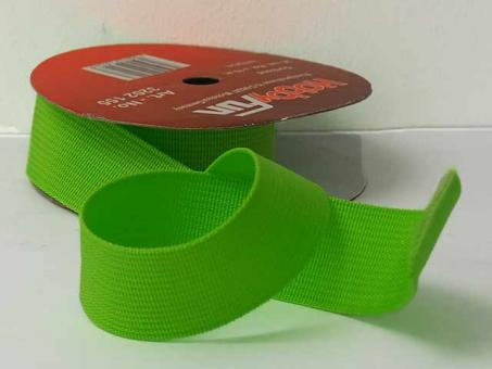 Gurtband 25 mm, pro meter, hellgrün