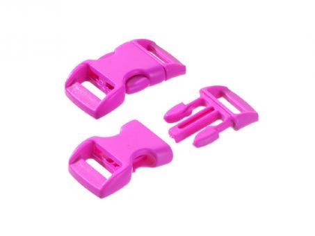 Steckschnalle-pink--16 - 20 mm-