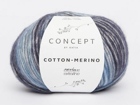 Cotton Merino Plus - Blau