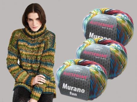 Anleitung  Modell 142 Long Pullover Murano Fun
