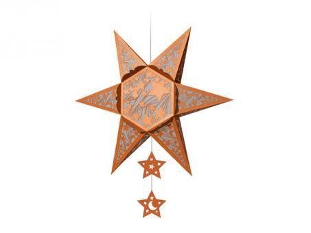 SILHOUETTEN-STERN -Falling Stars kupfer