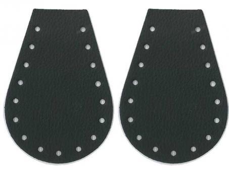 Taschenseitenteile (Tropfen) - Schwarz