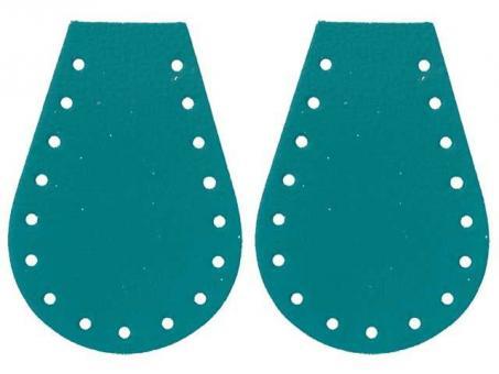 Taschenseitenteile (Tropfen) - Aquamarin