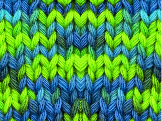 Topflappengarn Record 210 Color blau-grün