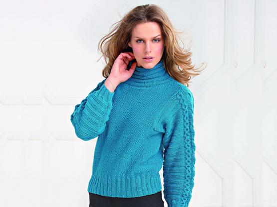 Anleitung  Damen Pullover Merino 160