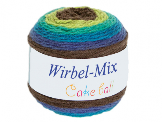Wirbel-Mix Farbverlaufgarn grün-blau-smaragd grün-blau-smarag
