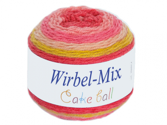 Wirbel-Mix Farbverlaufgarn rosatöne