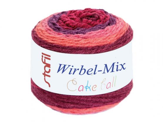 Wirbel-Mix Farbverlaufgarn rottöne