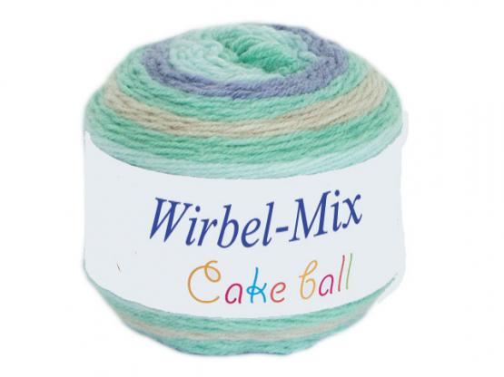Wirbel-Mix Farbverlaufgarn grau-minze-meergrün grau-minze-meerg