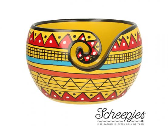 Scheepjes Garnschale  Mangoh. yellow Stripe