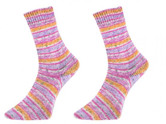 Sockenwolle Bamboo Socks color pink-flieder-orange