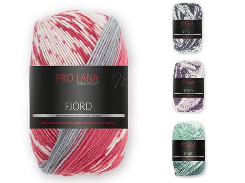 Pro Lana FJORD  Norwegermuster  70 /% Wolle 30 /% Polyacryl   100 gr 9,95 €  neu